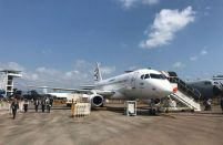 Winglet-equipped SSJ100 makes world debut