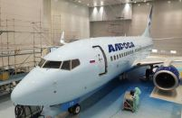 First Boeing 737-700 painted in Alrosa Airlines livery