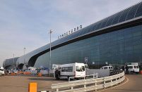 Unfinished apron holds up the launch of Domodedovo's new terminal