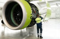Latvia's airBaltic performs the world's first A220-300 in-house C-check