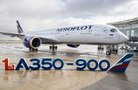 Aeroflot accepts its first A350-900 wide-body airliner