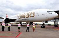 Emirates'  A380 returns to Moscow