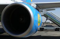 First of two Boeing 787s painted for Uzbekistan Airways