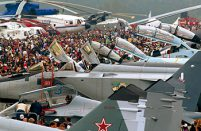 The MAKS static display historically features Russia's newest aircraft designs // Fyodor Borisov / Transport-Photo.com