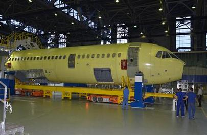 Irkut MS-21 fuselage assembly