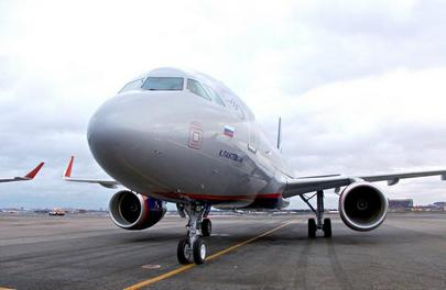 The new Aeroflot's Airbus A320 will be used on European and domestic air routes