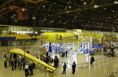 Left half-wing for MC21 prototype delivered to final assembly
