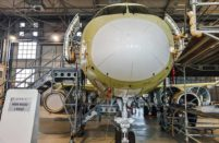 The first SSJ-100 intended for CityJet already undergoes customizations in Venice