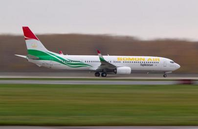 Somon Air is one of two Boeing 737-900 operators in the CIS outside Russia