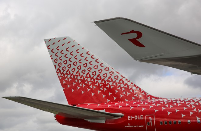 Rossiya's Boeing 747 is the first aircraft to receive a new branded livery