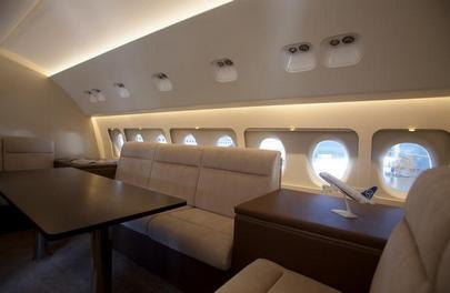 One of the VIP interiors offered for SSJ 100