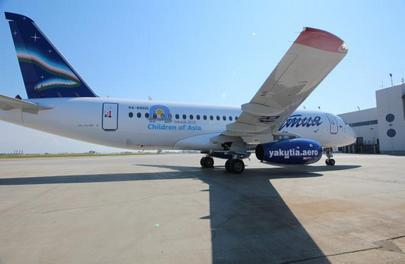 The SSJ 100 was painted into its new livery by Spektr-Avia