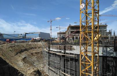 Construction of Domodedovo's second terminal building with the area of 235,000 square meters