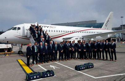 Russian-made aircraft took Irish national football team from Dublin to Paris for European championship