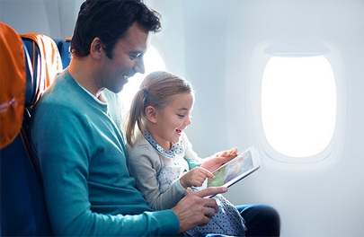 Aeroflot allows the use of electronic devices throughout the flight