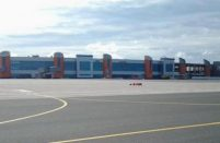 There's ongoing reconstruction at Kaliningrad's Khrabrovo airport in advance of the 2018 FIFA Cup