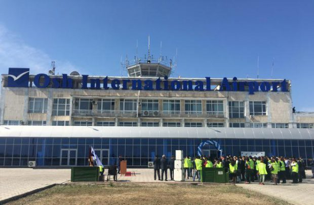 Bishkek and Osh (pictured) are accountable for almost 100% of all traffic served by seven of the country's airports