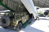 The trials are the first demonstrations of the An-178's cargo loading capability using a real aircraft