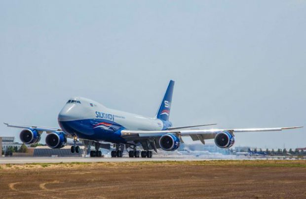 The new Boeing 747-8F with tail number VQ-BBH is the fourth aircraft of the type in the fleet of Silk Way West Airlines