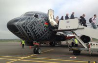 Belarusian Belavia operated its first flight from Minsk, which is to become a daily route from now on