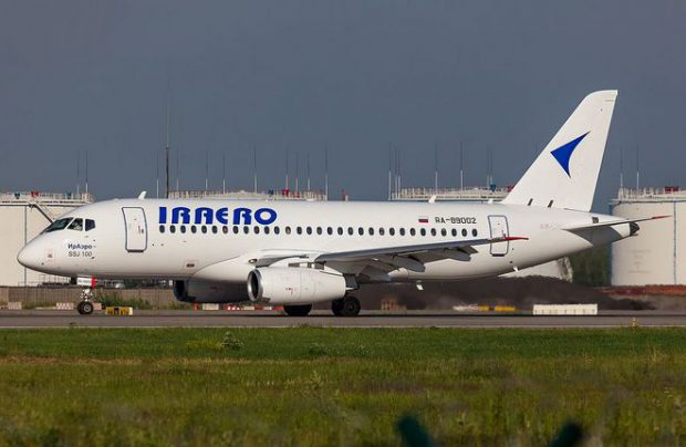 An IrAero's Sukhoi Superjet 100 was the first aircraft of the type to arrive for maintenance in Kazan
