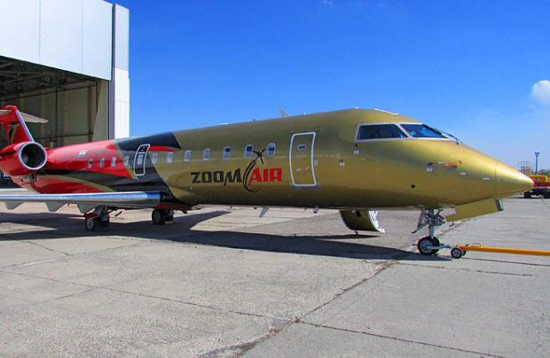 S7 Engineering has re-delivered to Zoom Air its first and only CRJ200 after painting (Photo by the Engineering Holding)