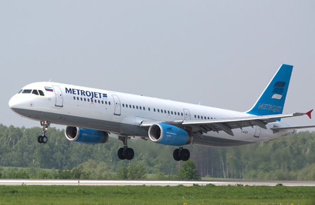 The Airbus A321 of Metrojet (Kogalym Avia) pictured at Domodedovo