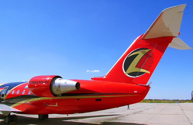 Zoom Air has complicated livery with many colors and small details