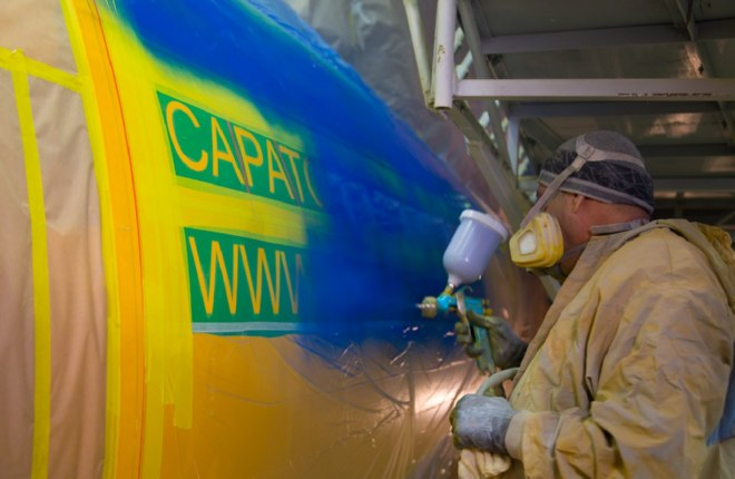 Besides painting, VASO is also providing the An-148 aircraft with maintenance services.
