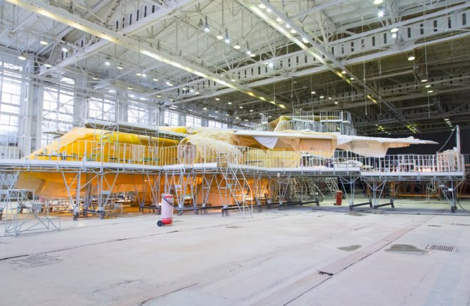 As with Saratov's E195s, the aircraft is being painted primarily orange.