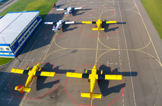 RN-Aircraft Twin Otters are capable of transporting 19 passengers