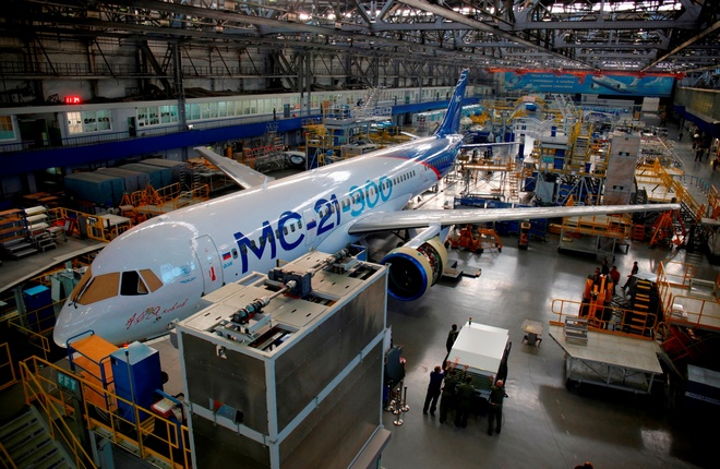 MC-21 prototype prepares for the first flight in Irkutsk (Phot by Irkut)