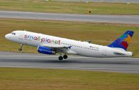 Small Planet Airlines operates twenty-one aircraft from 12 bases in Europe and Asia