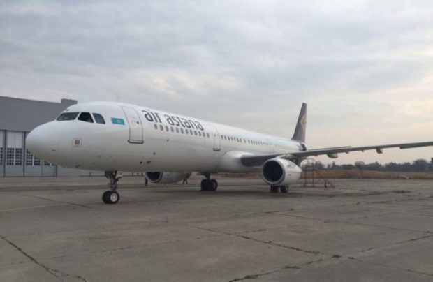 This A321 painted in Russia received Air Astana's renewed livery