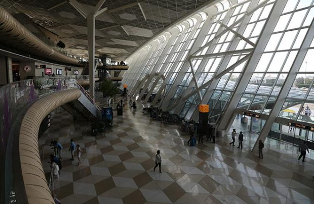 At the end of the year traffic growth through Azerbaijan's main airport may reach double-digit rate