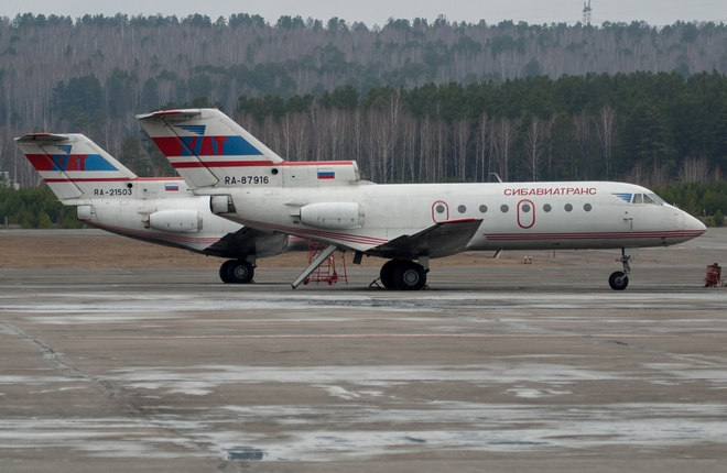 According to FATA, 24 Russian-registered Yak-40s had valid airworthiness certificates as of December 2016 (Photo by Sergey Ivantsov / SibNIA)