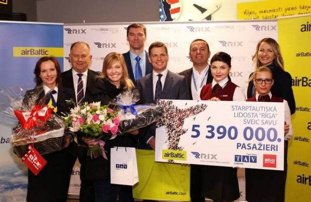 Riga airport served 5.3 million passengers since the beginning of 2016