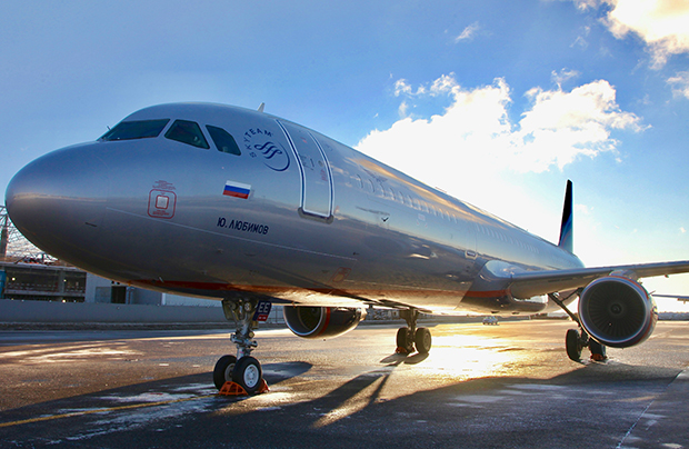 Aeroflot's first new aircraft this year is an A321 with seating capacity for 186 passengers