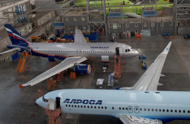 Aeroflot aircraft are frequent visitors at Engineering's facilities