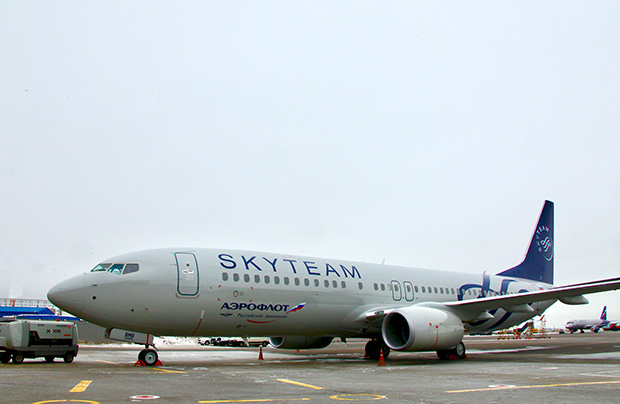 SkyTeam liveried Boeing B737-800 joins Aeroflot fleet