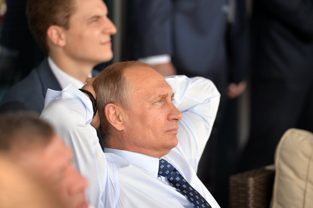 Vladimir Putin at the MAKS air show