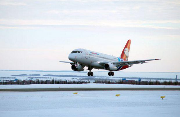 Yamal Airlines received six more SSJ 100 jets, leased through government-owned lessor