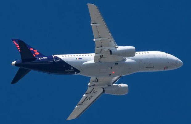 The Belgian carrier is wet-leasing one Russian-built regional jet from Irish partner CityJet