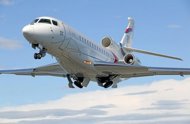 The Falcon 8X is an improved, longer-range derivative of the 7X model