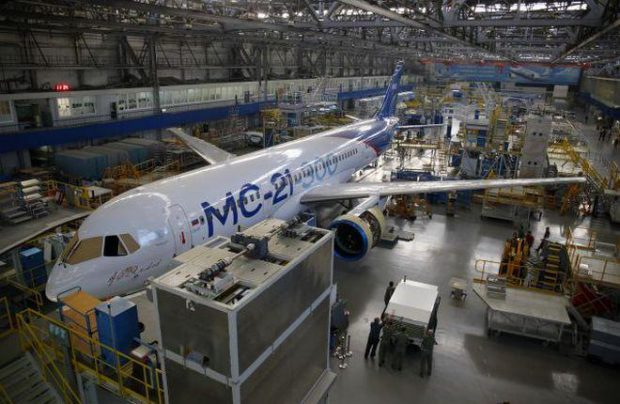 The MC-21 could replace older Boeing and Airbus narrowbody models in Russian carriers' fleets