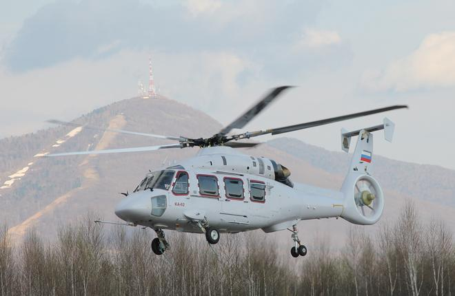 The Ka-62 is intended for passenger transportation, as well as in medevac and offshore roles