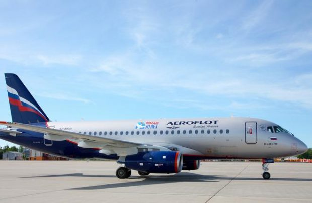Several SSJ100 airliners were temporarily grounded in an unrelated episode earlier this year