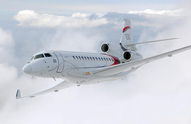 The Falcon 8X is so far the new operator's single aircraft