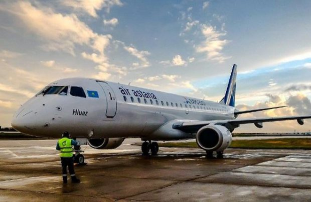 Air Astana operates nine Embraers