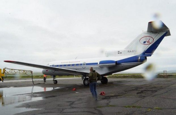 The Yak-40 is being wet-leased from Petropavlovsk-Kamchatsky Air Enterprise